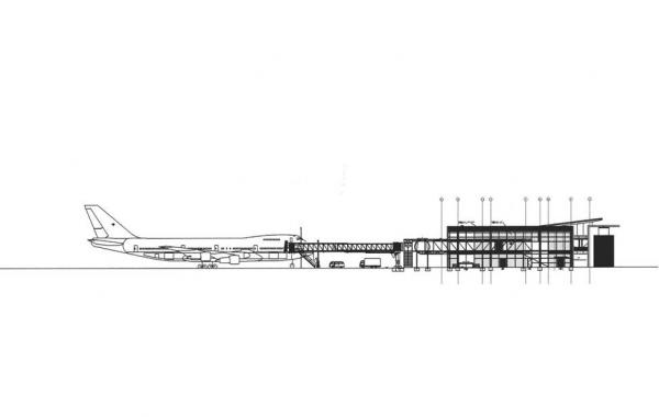 Passagier-Terminal U.S. Air Base